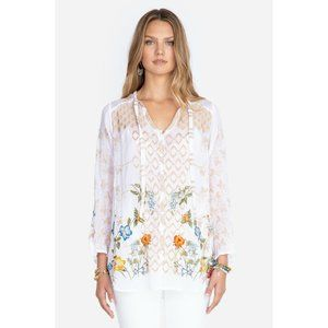 Johnny Was Luca Floral Embroidered Boho Blouse